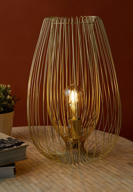 Table Lamp Lucid Iron Gold Plated Large