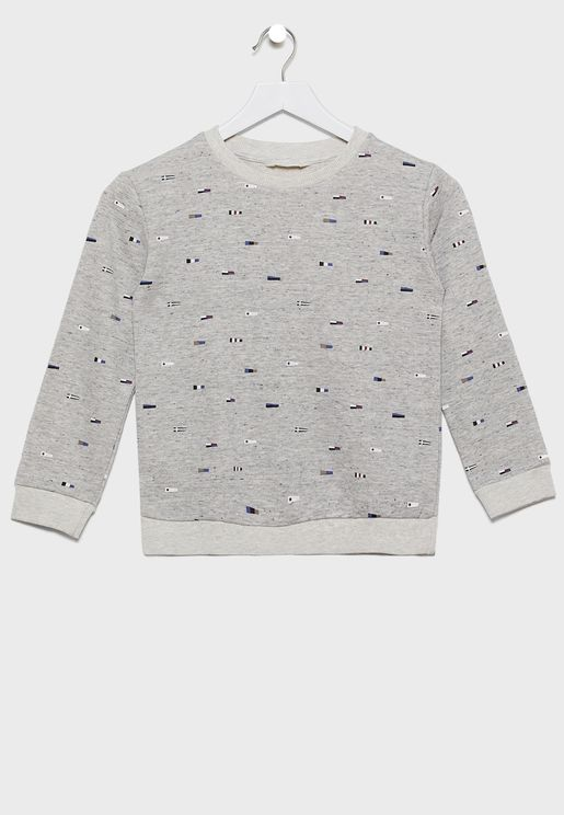 Printed Cotton Sweatshirt
