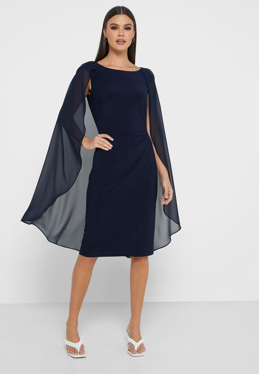 Hopelee Short Asymmetric Sleeve Dress
