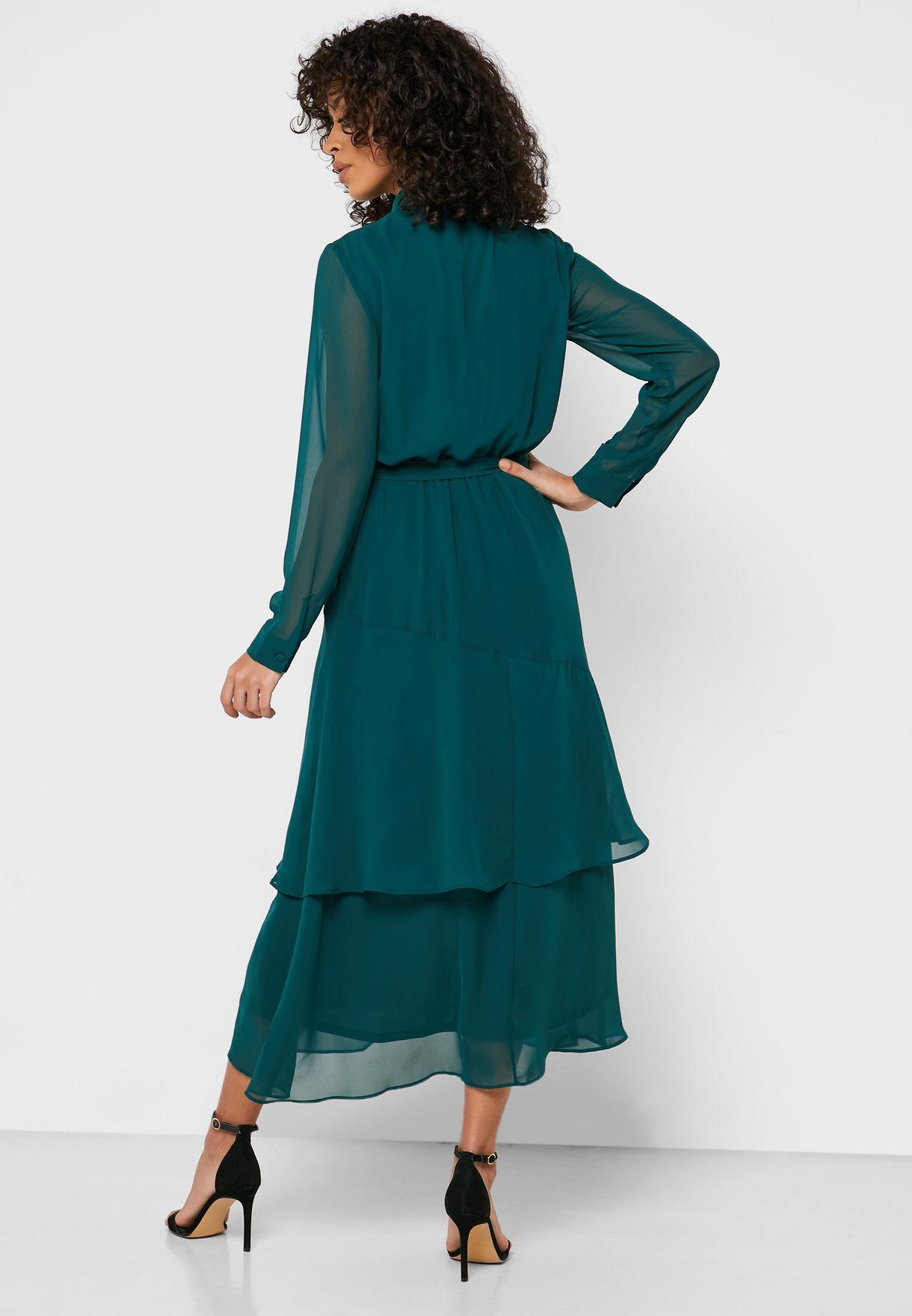 فستان بازرار وحزام