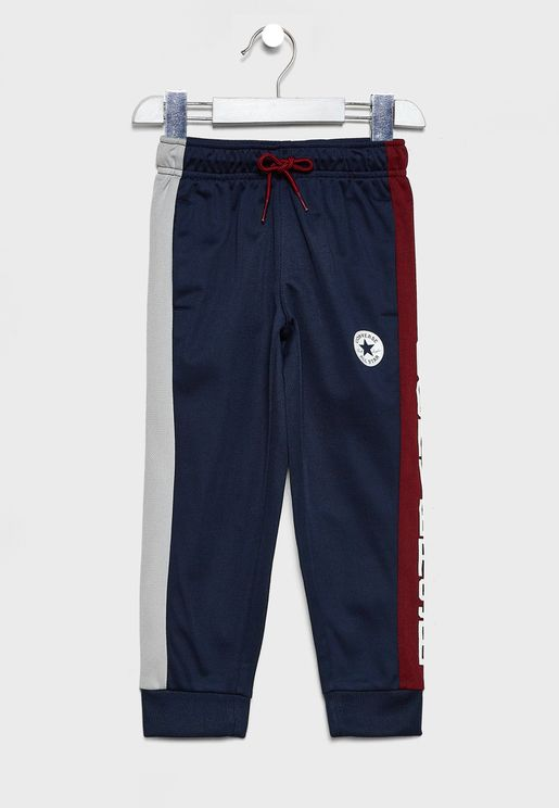 Kids Colour Block Track Pants