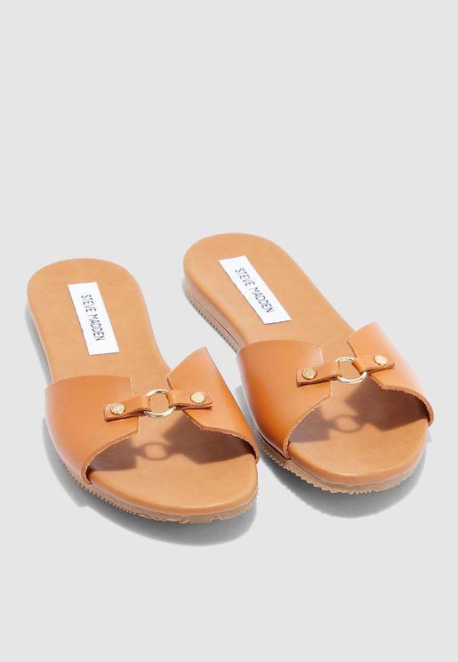 Nyla Flat Sandal - browns