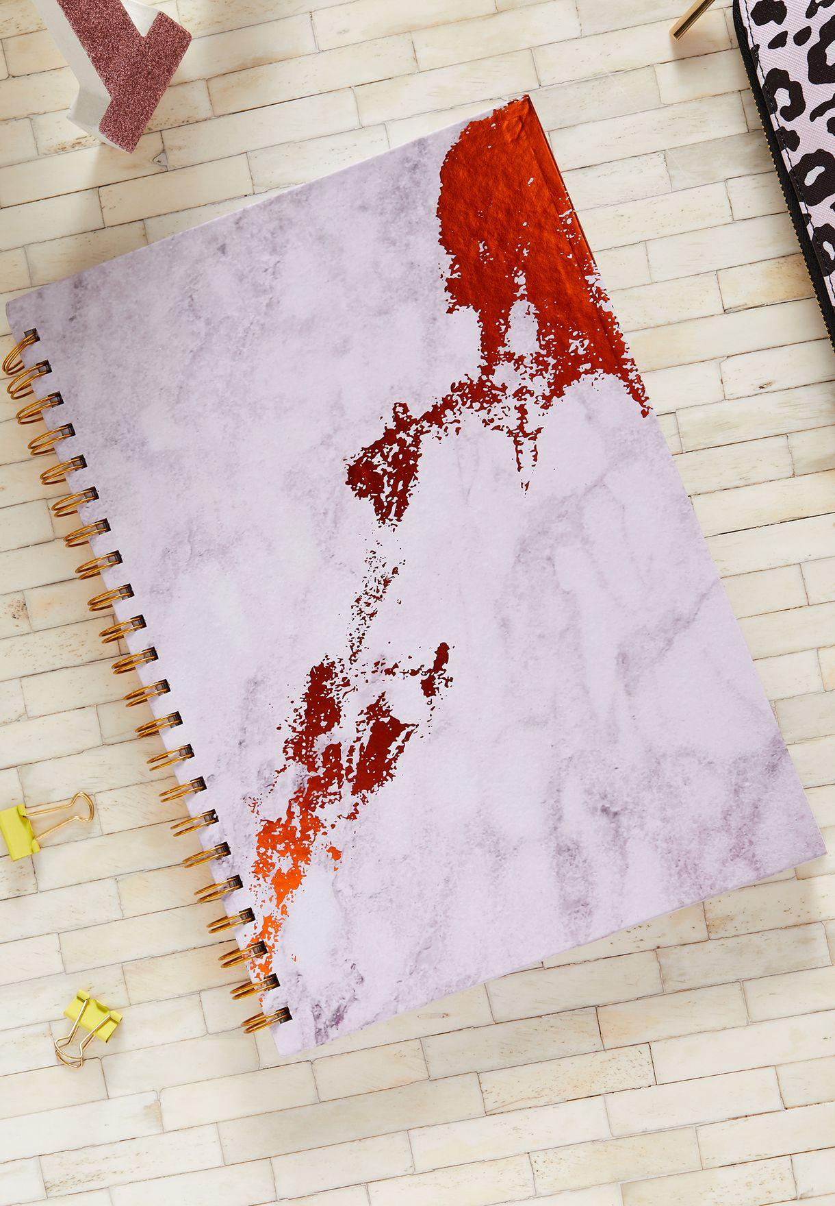 دفتر ملاحظات A4 بطباعة رخامية