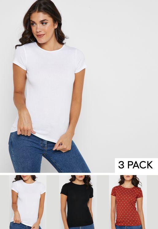 3 Pack Short Sleeve T-Shirt