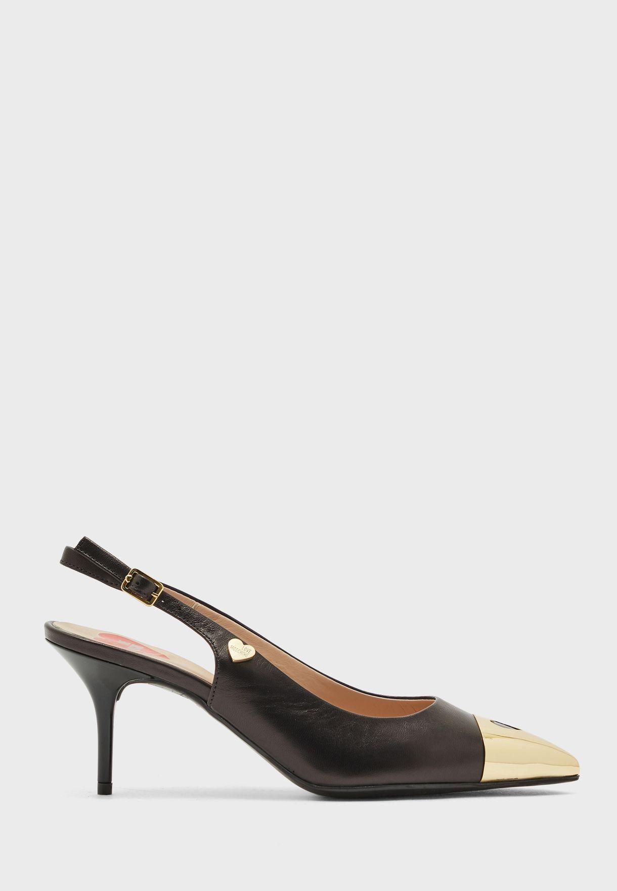 حذاء جلد اصلي بسير كاحل