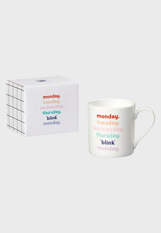 Week Days Blink Mug