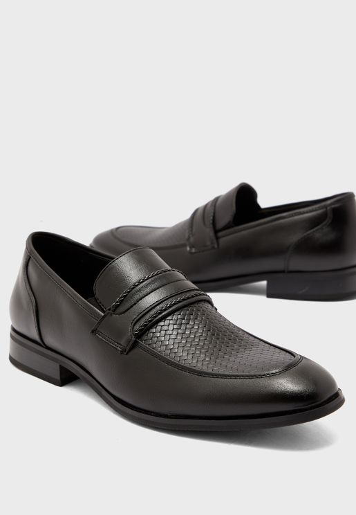 Formal Textured Apron Slip Ons