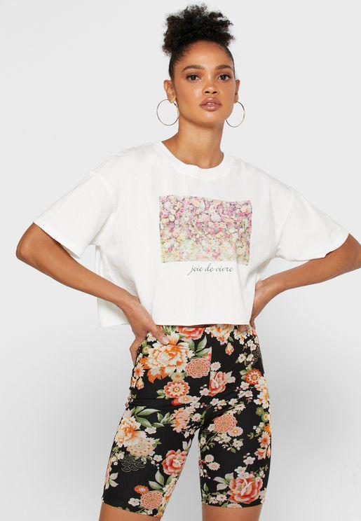 Crop Graphic T-Shirt