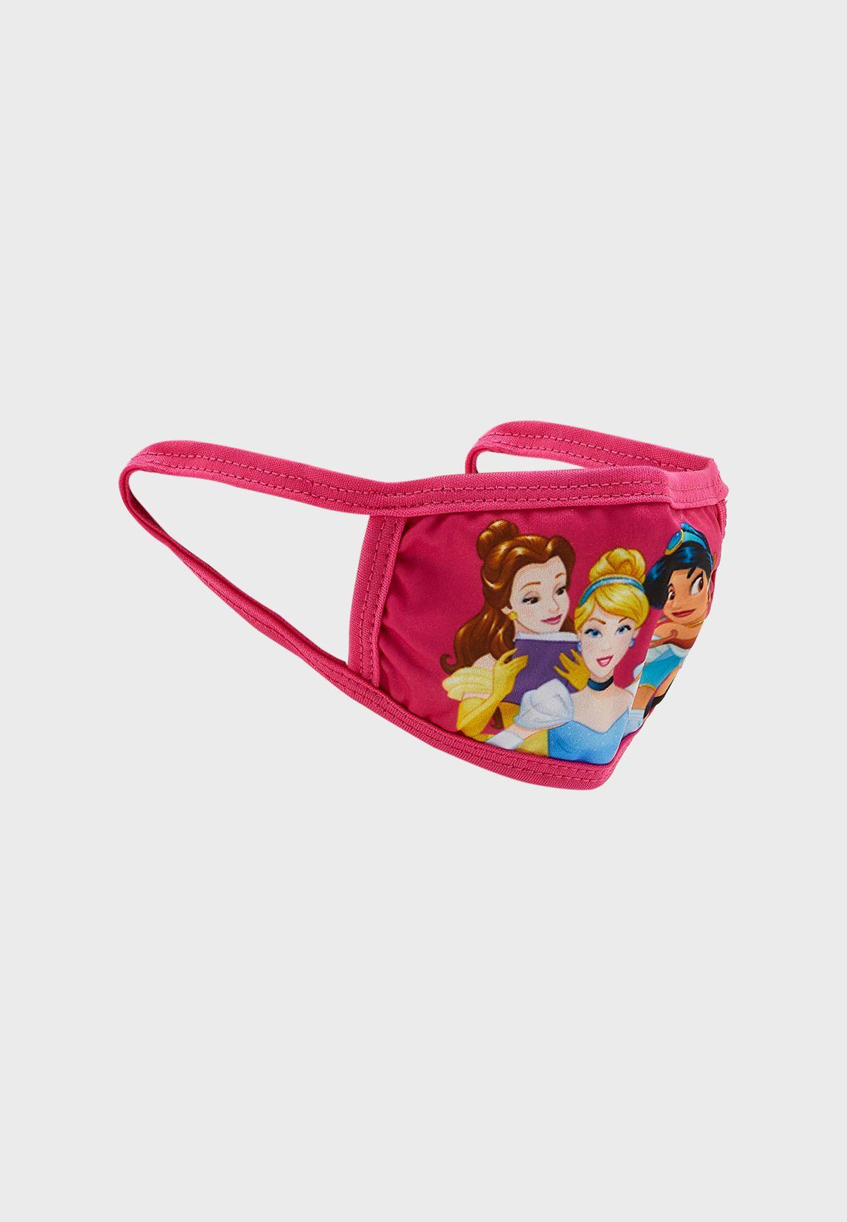 Kids 2 Pack Disney Princess Print Mask