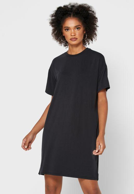 Crew Neck T-Shirt Dress