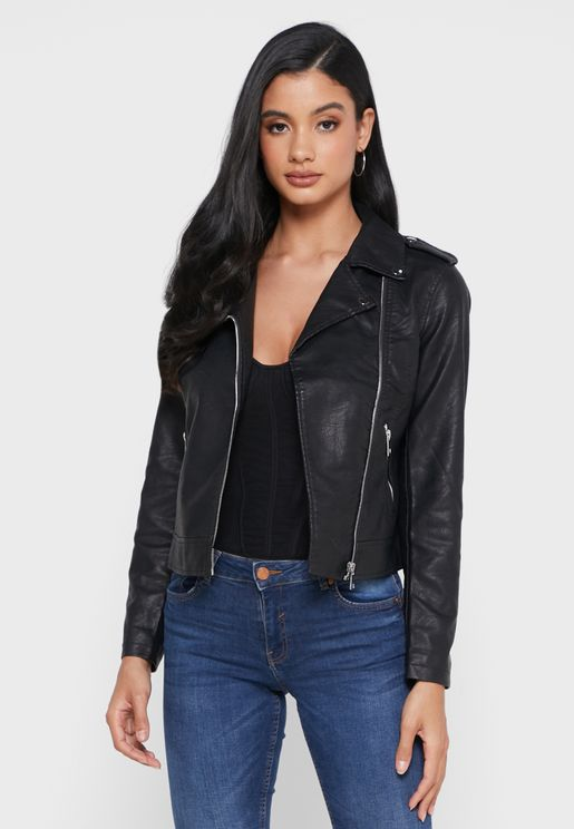 Zip Front Detail Jacket