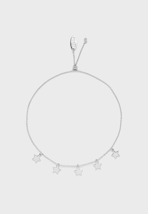 Star Charm Drop Slider Bracelet