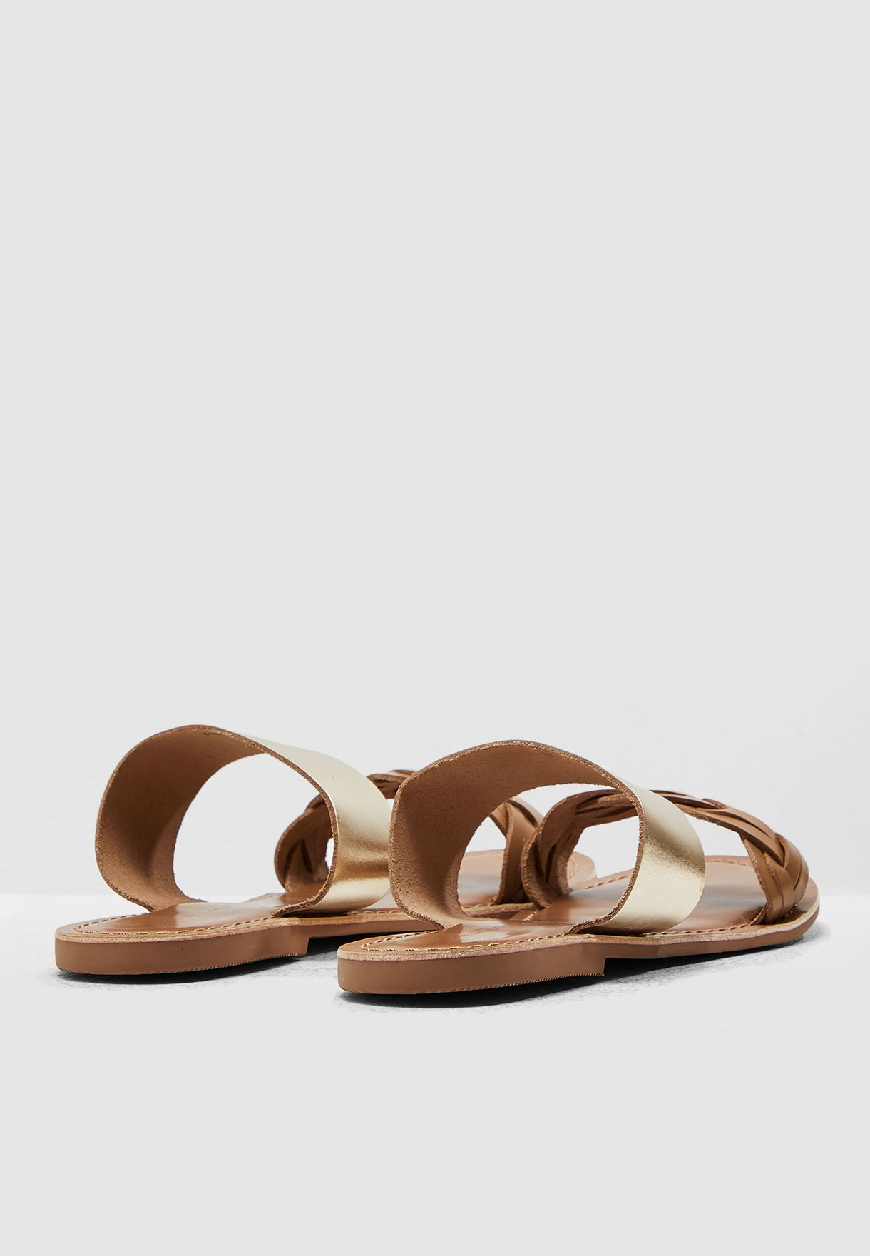 Flamingo Flat Sandal - Brown