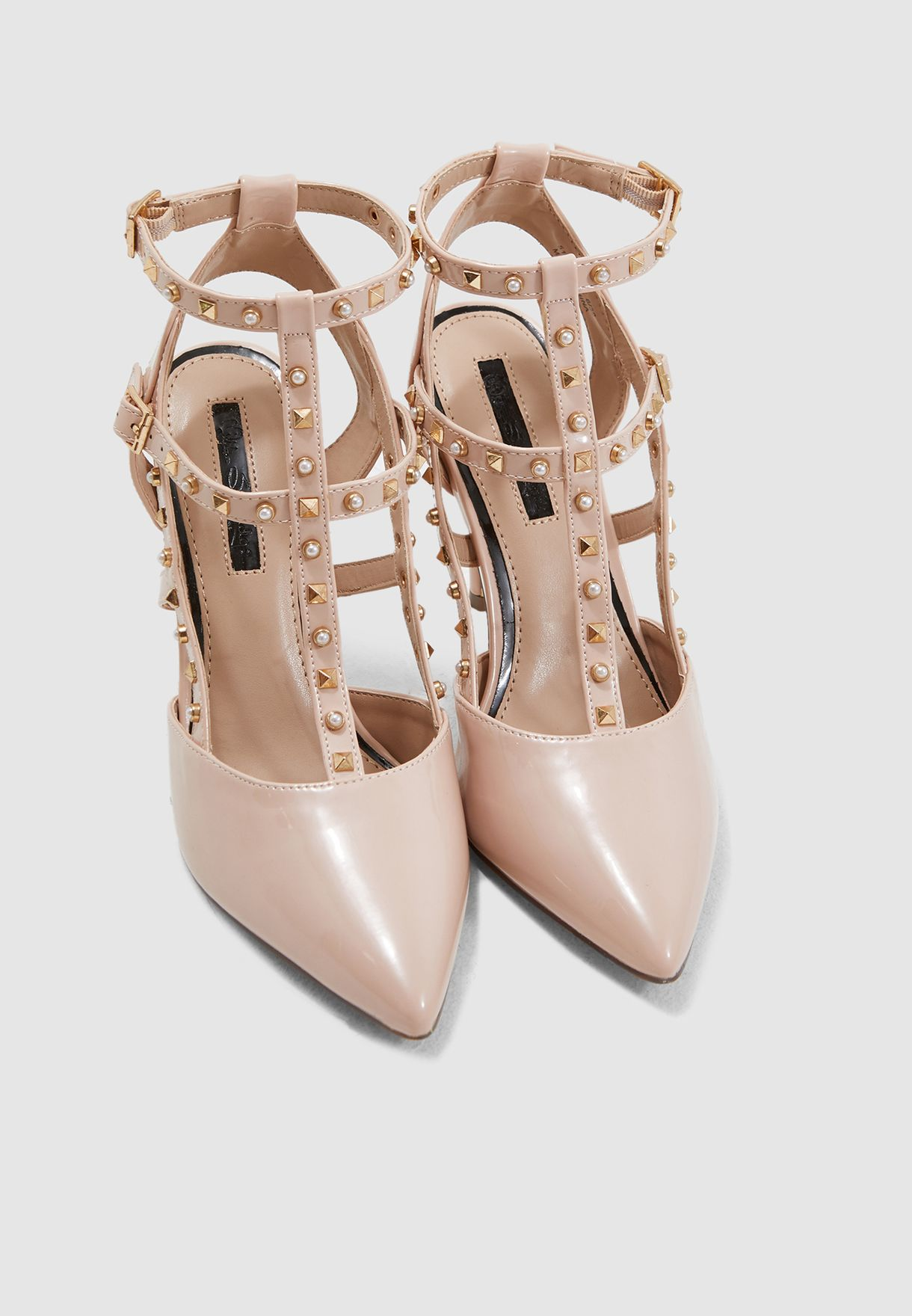 Cacey Stud And Pearl Pump - Pink