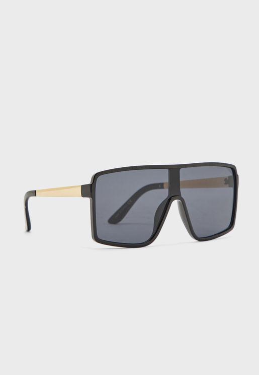 نظارة شمسية كبيرة بأذرع معدنية
