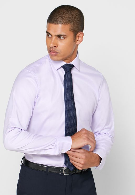 Oxford Button Cuff Slim Fit Shirt