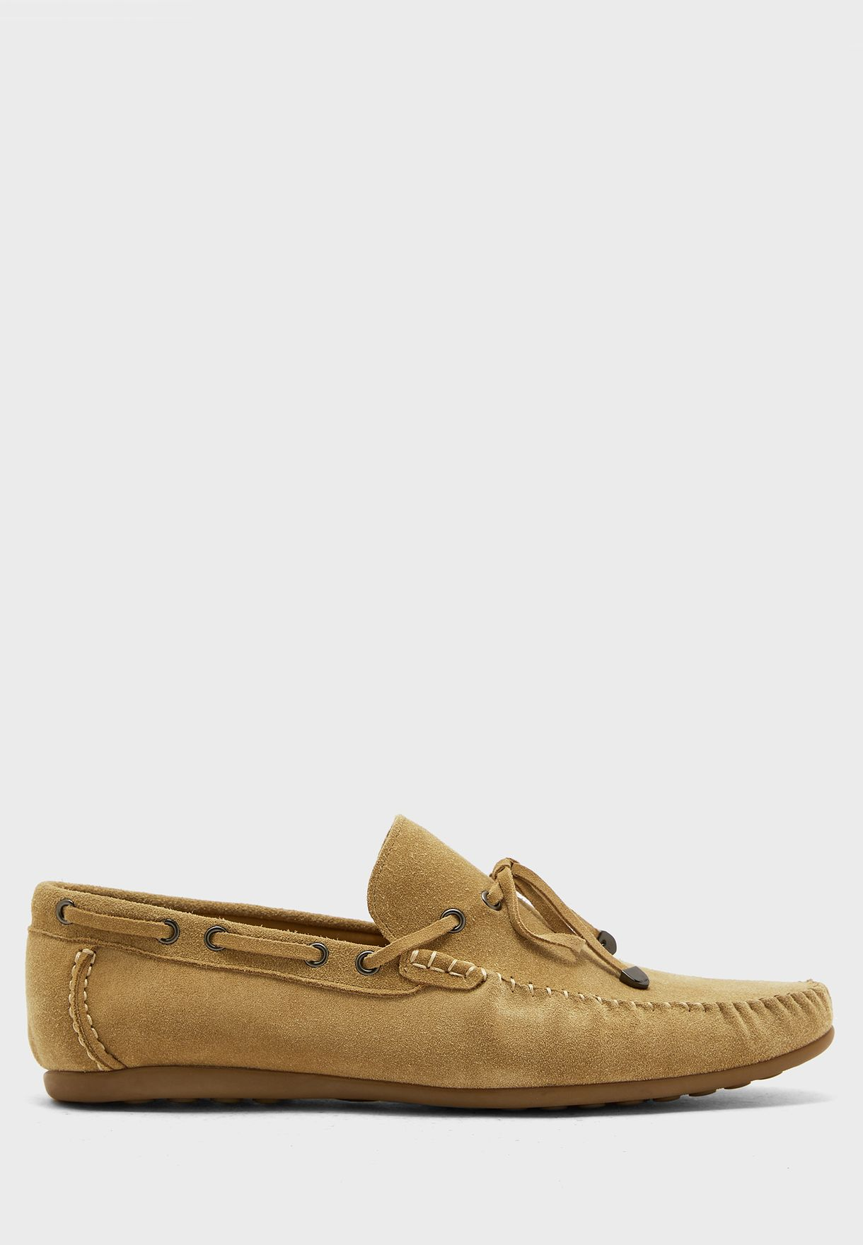 Genuine Suede Leather Casual Slip Ons
