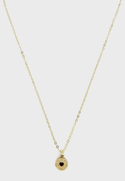 Baltia Biscuit Button Pendant Necklace
