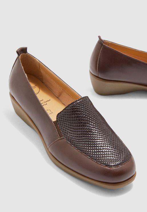 Wedge Heel Moccasin