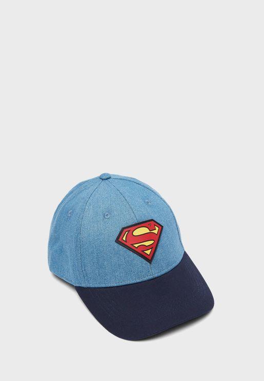 Superman Logo Flat Peak Cap