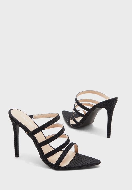 Confess Multi Strap Sandal - Black