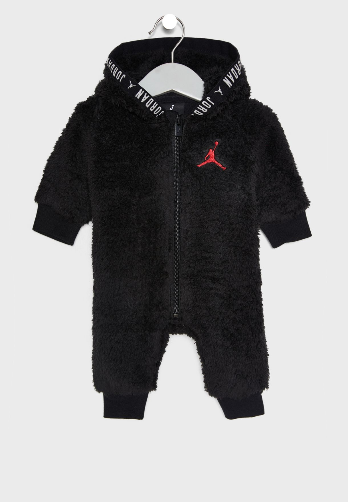 24633ae6460d Shop Nike black Infant Jordan Sherpa Romper 555608-023 for Kids in ...