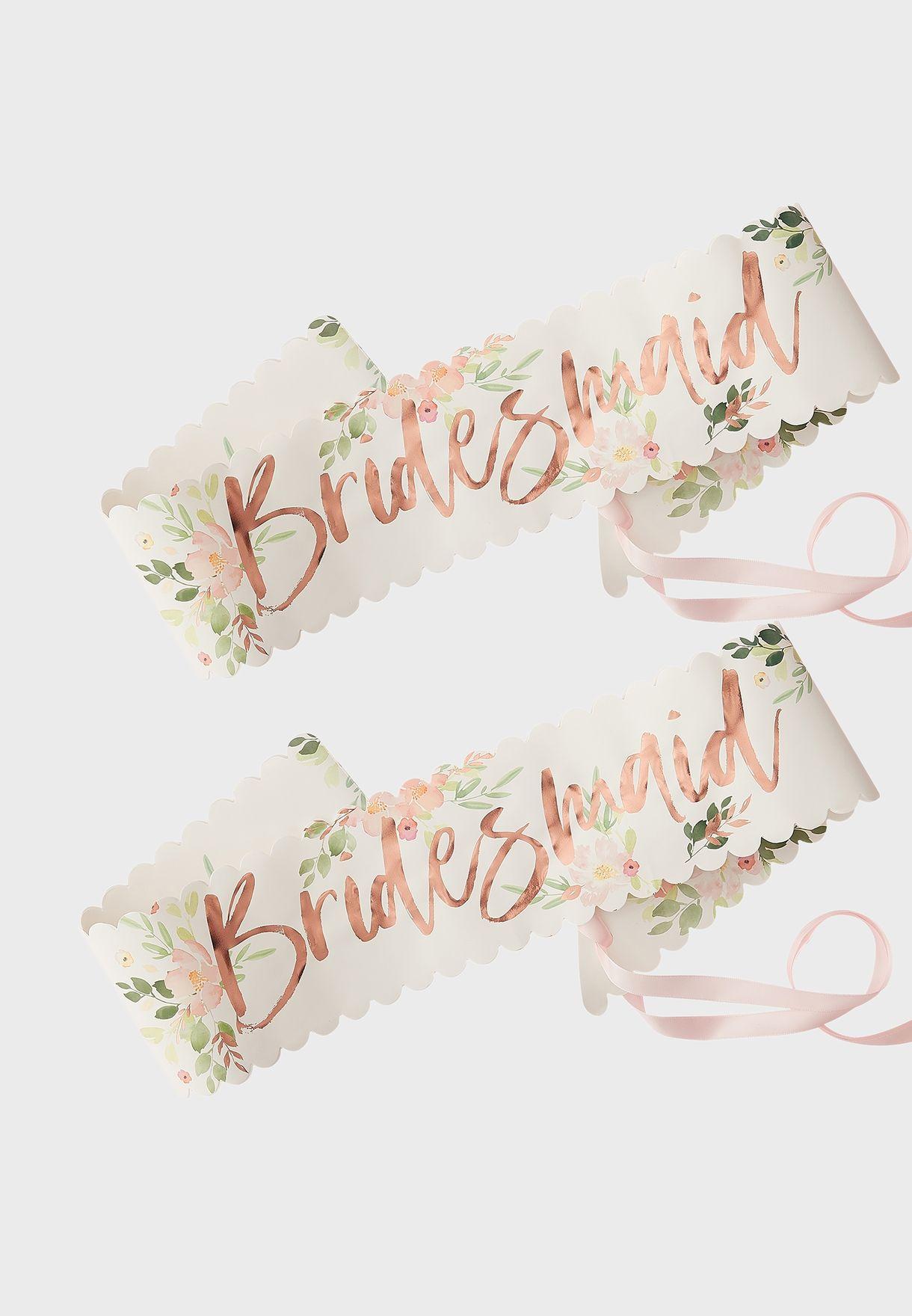 Bridesmaid Sash 2 Pack