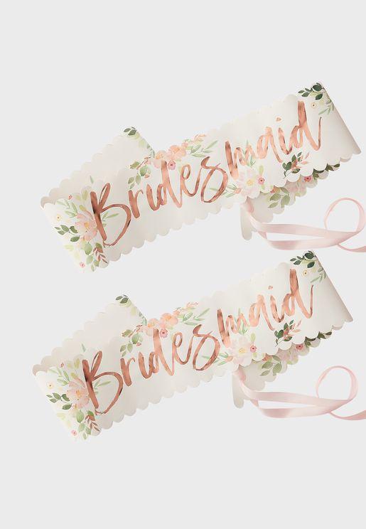 مجموعة من 2 وشاح لوصيفات العروس