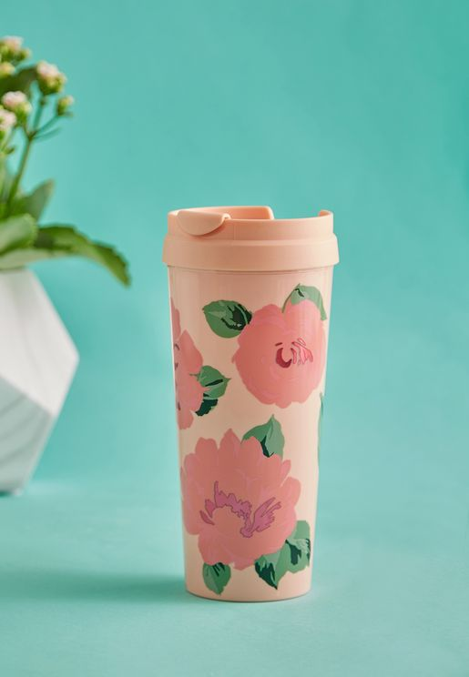 Floral Thermal Travel Flask