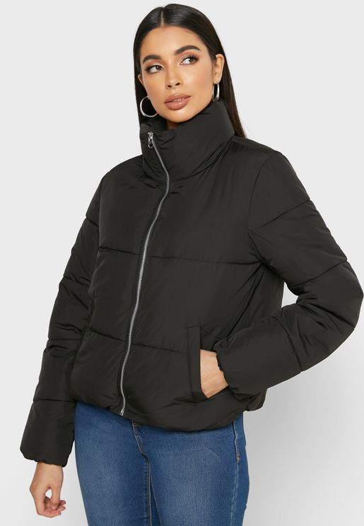 Full Zip Quilted Jacket