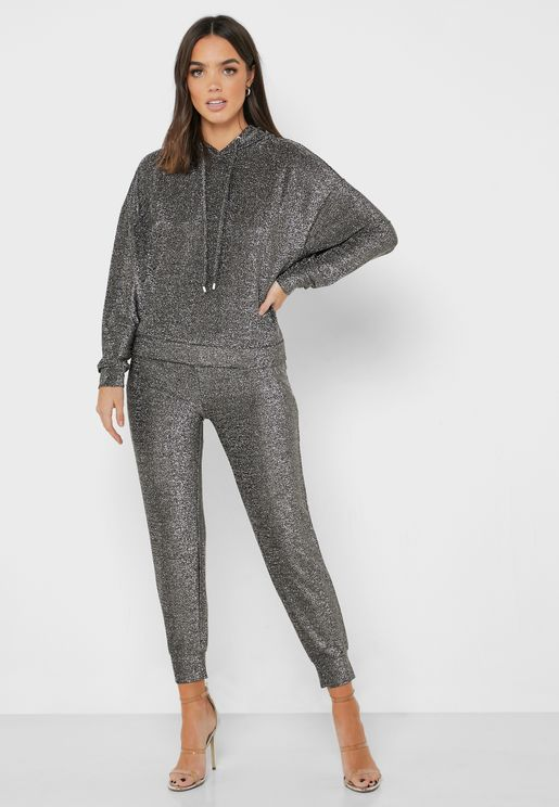 Textured Glitter Sweatpants