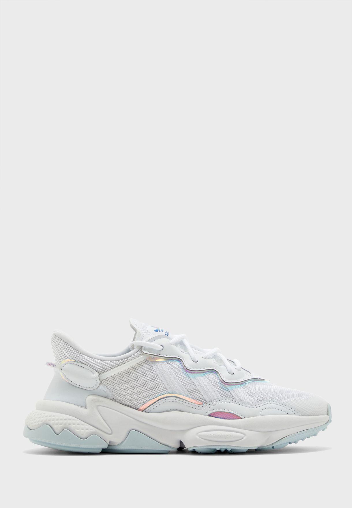 adidas Originals white Youth Ozweego