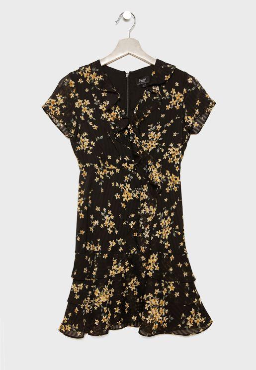Teen Floral Print Dress