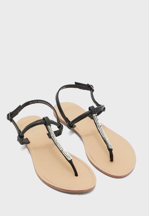 Margit Glitter Split Toe Sandal