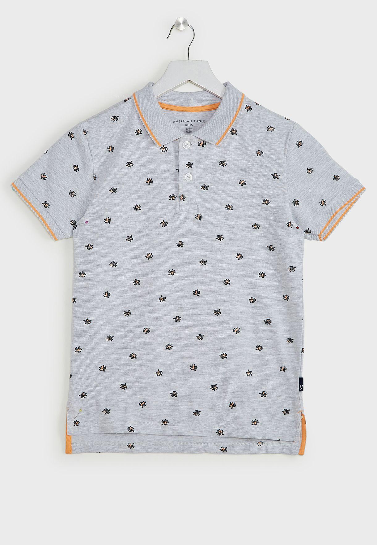 Kids Turtle Print Polo