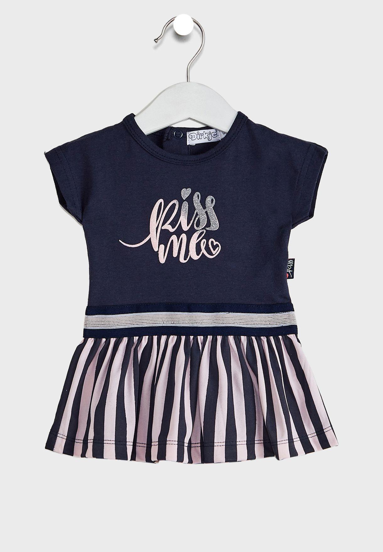 Kids Slogan Dress