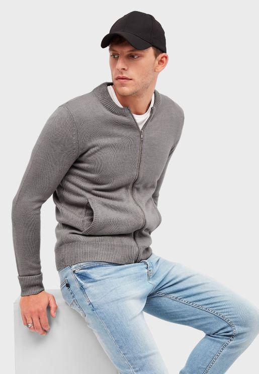 Essential Zip Through Cardigan