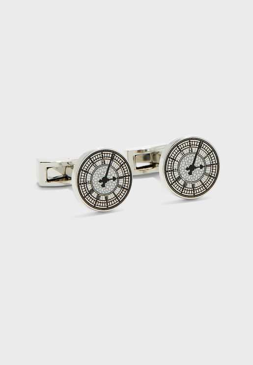 Big Ben Face Cuff Links