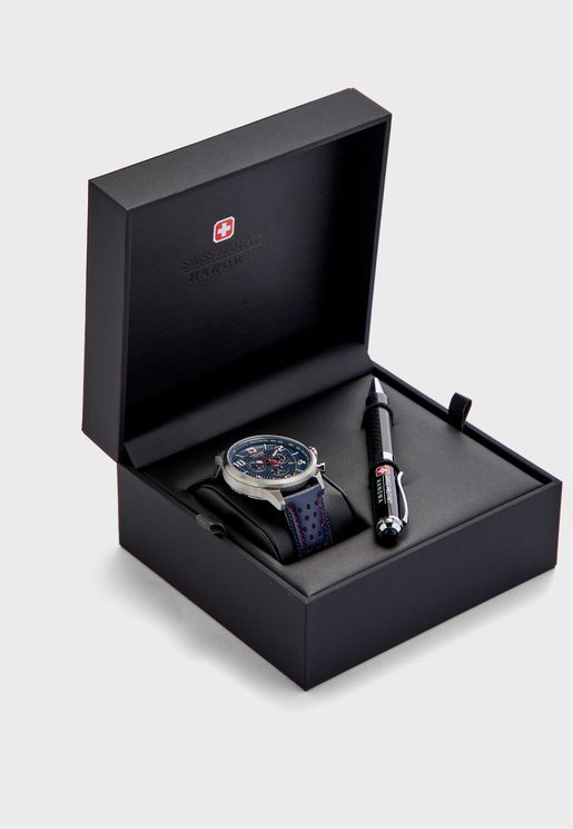 Airman Chronograph Watch + Pen Set