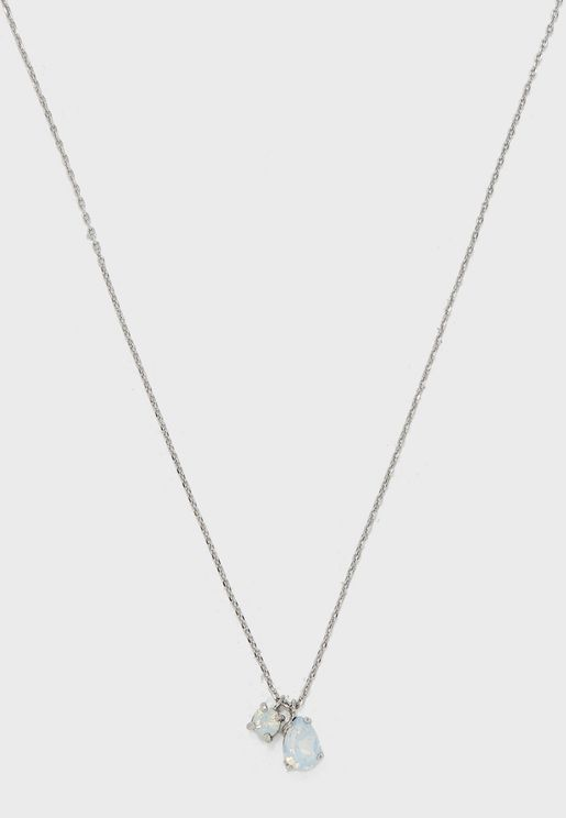 Heart & Lock Pendant Necklace