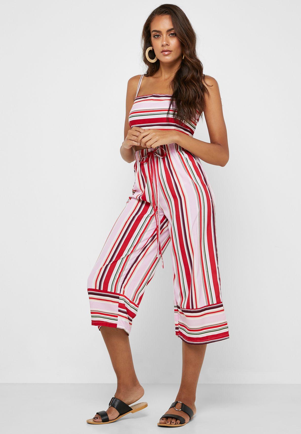 Striped Crop Top & Beach Pants