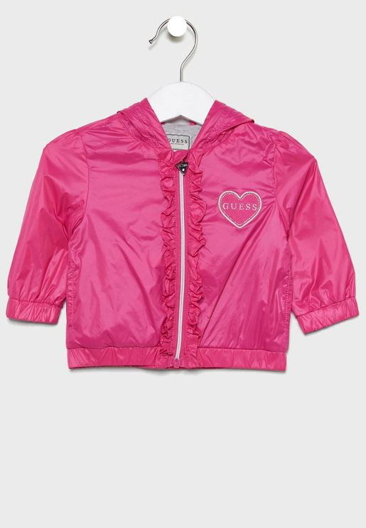 Kids Heart Patched Hoodie