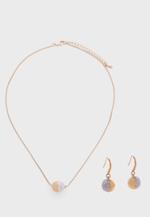 Greenwich Necklace+Earrings Set