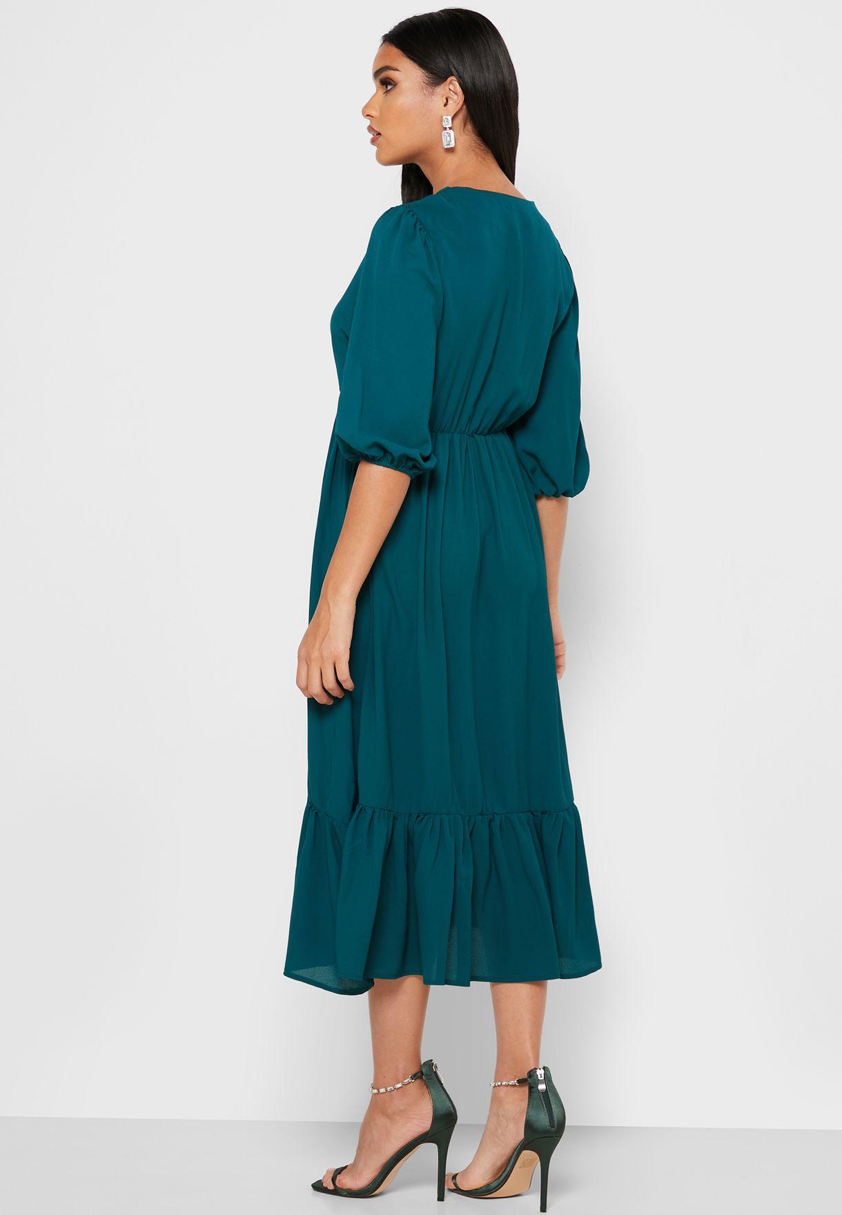 TIE NECK DETAIL DRESS