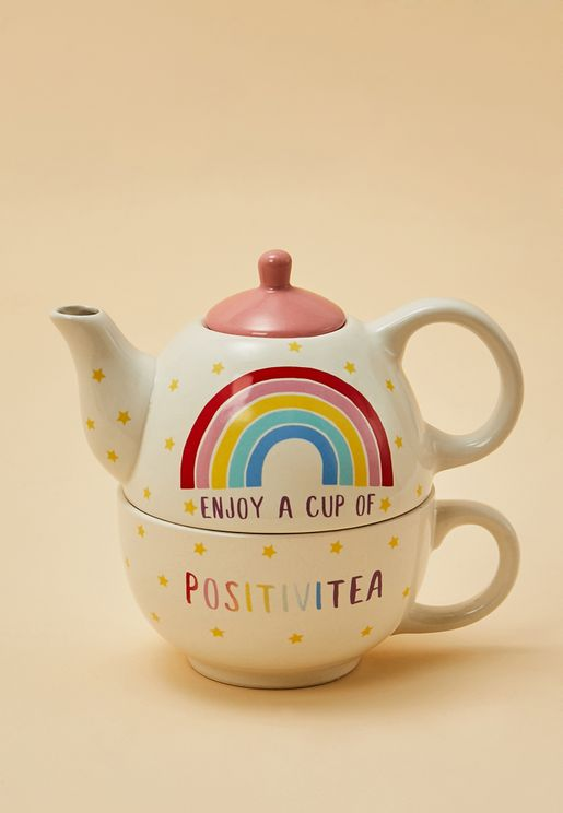 Rainbow Tea Pot Set