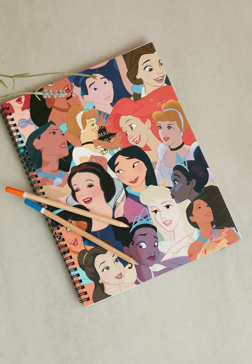 A4 Disney Princess Spinout Notebook
