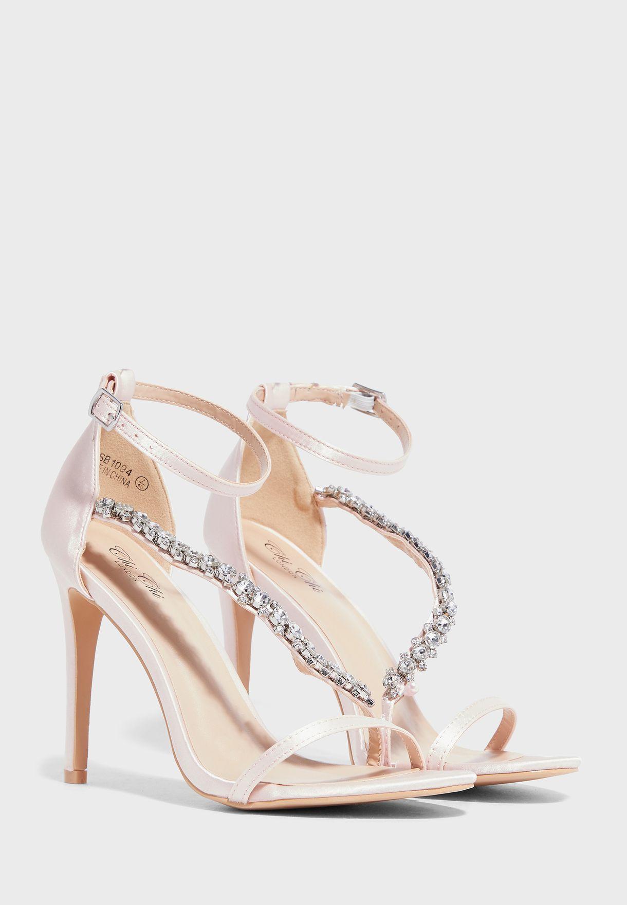 Ankle Strap High Heel Sandal