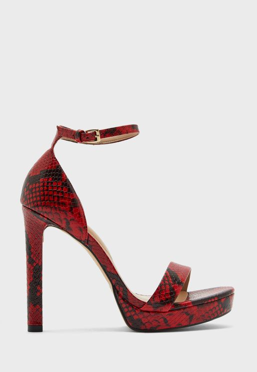 Printed Ankle Strap Sandals