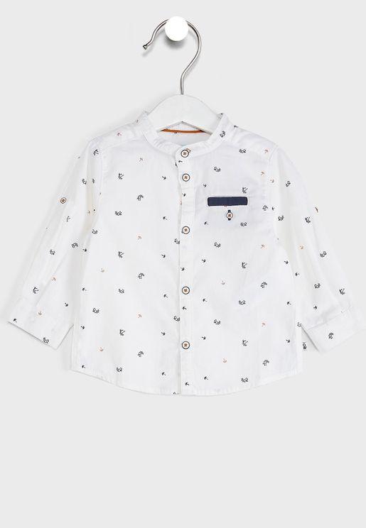 Kids Palm Tree Print Shirt