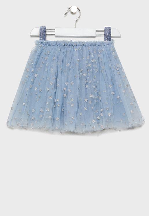 Kids Star Tulle Skirt